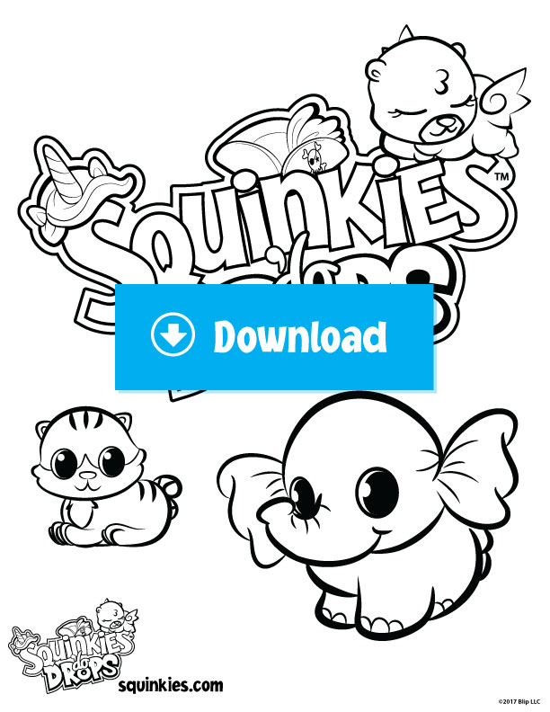 Coloring Pages - Official Squinkies - Welcome to Squinkieville